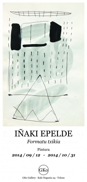 IÑAKI EPELDE / Erakusketa  · Exposición  Formatu txikiko lanak aurkeztuko dira, eta bertan 1999 - 2012 bitarteko lanen bilduma bat aurkitu dezakezue.